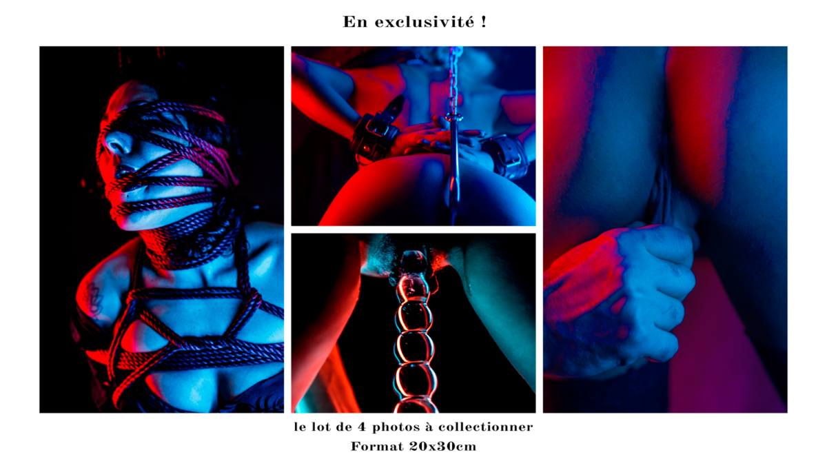 Lot de 4 photographies Porn'art par Olivier Parent