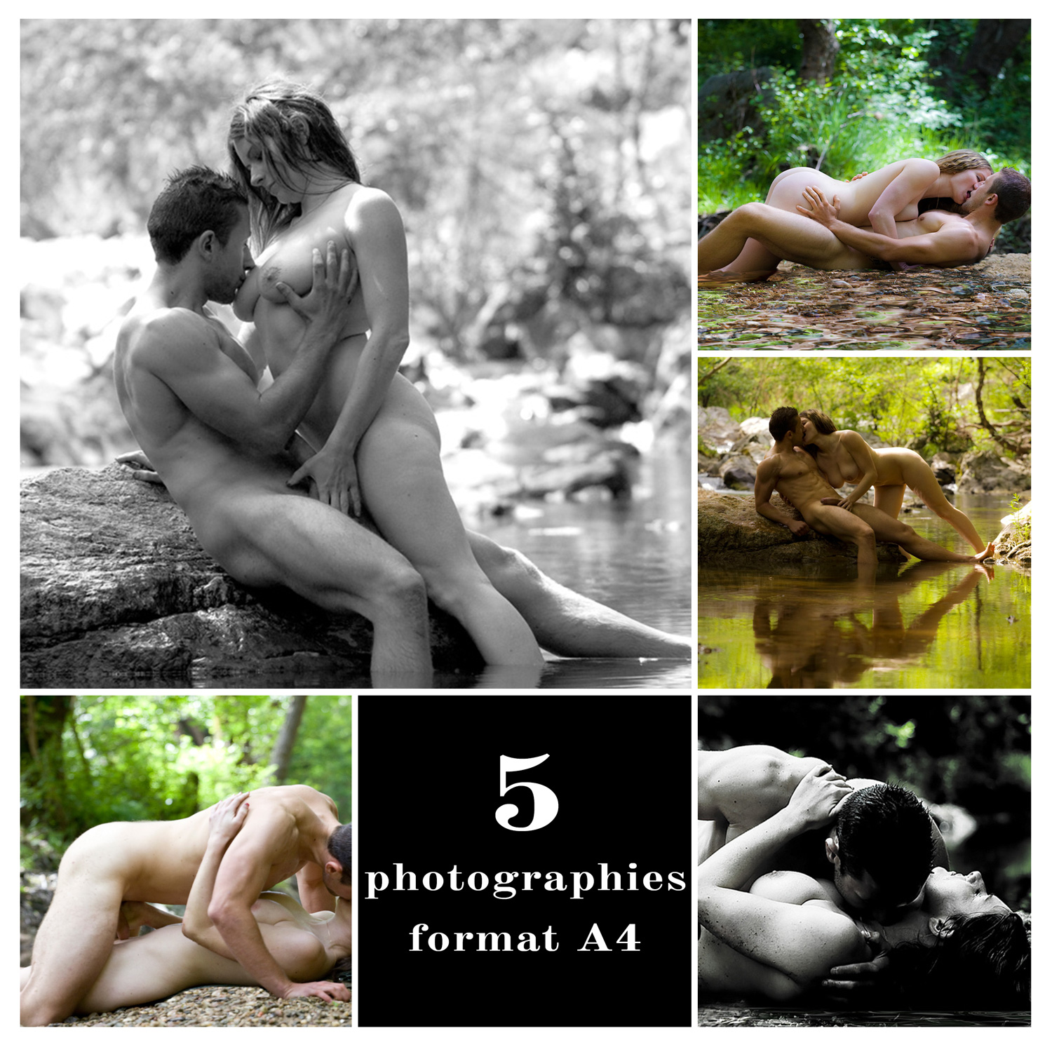 Lot de 5 photographies imprimées