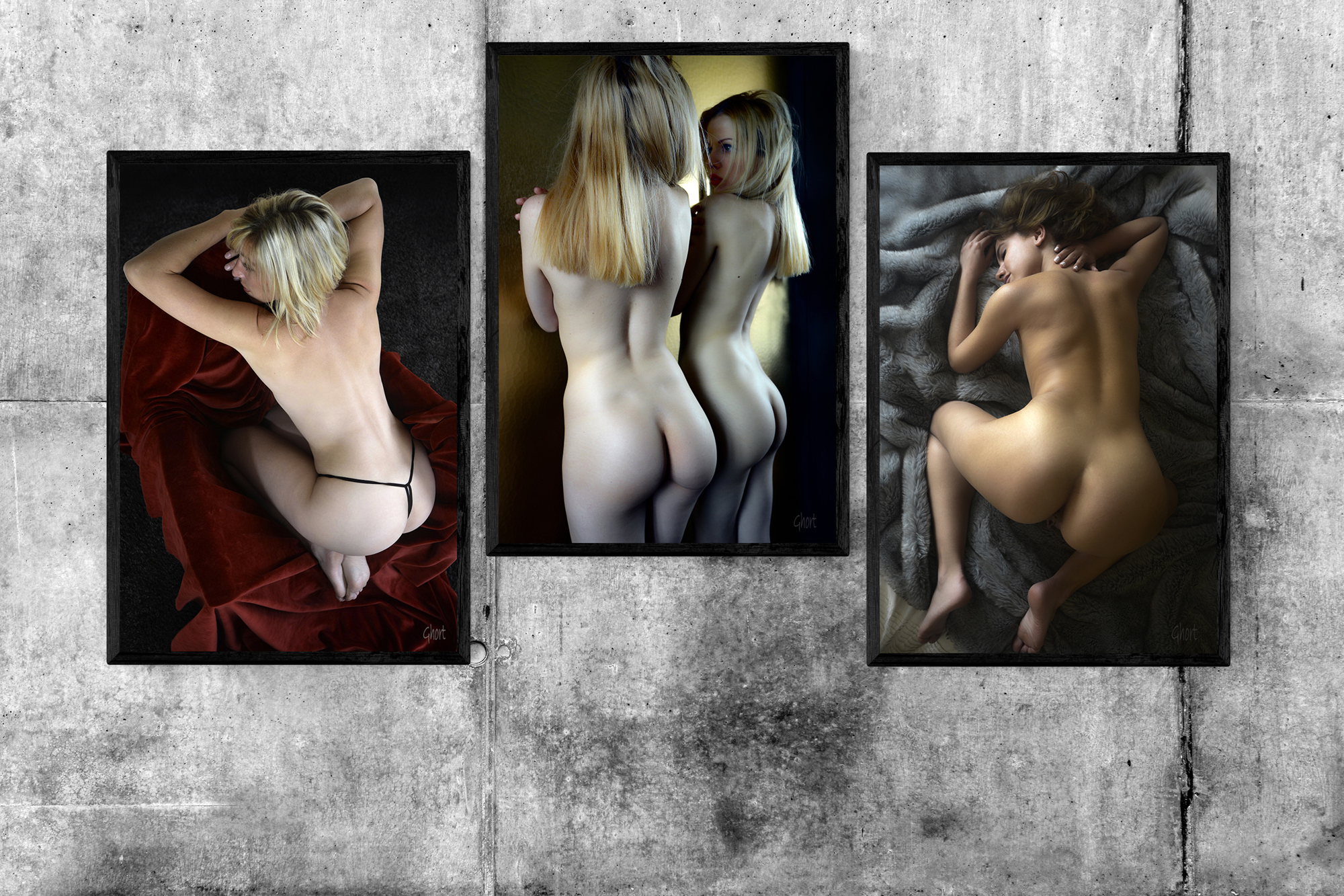 Lot de 3 photographies sexy à collectionner