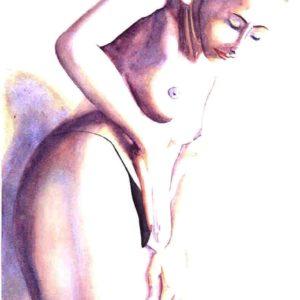 Peinture aquarelle art érotique